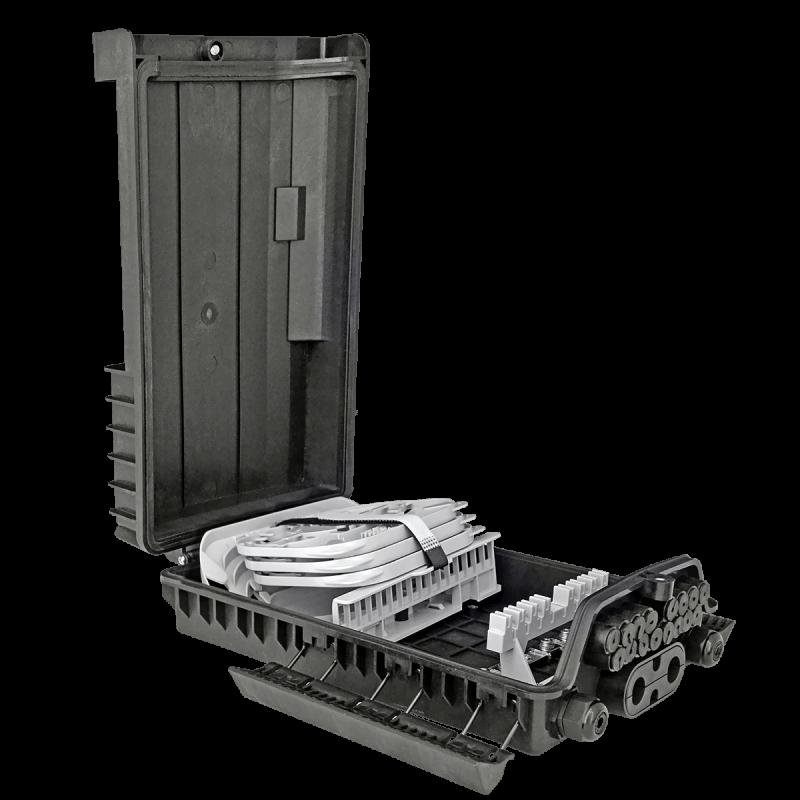Samm Teknoloji - Outdoor Termination Box | 3 Trays 36 Fibers 16 Ports 16 PLC | 362217