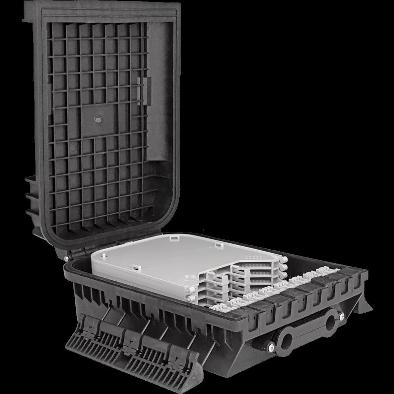 Samm Teknoloji - Outdoor Termination Box | 6 Trays 144 Fibers 16 Ports | 305216