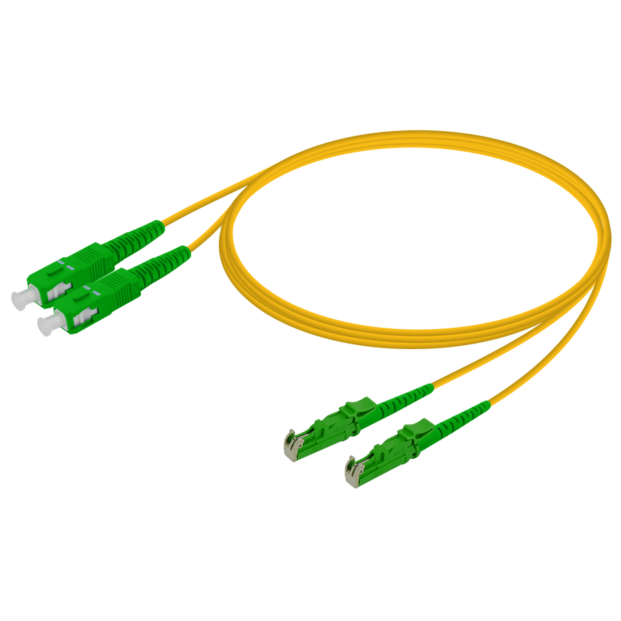 Samm Teknoloji - SC/APC-LSH/APC | Single Mode G657.A2 Duplex Patch Cord | 2.0x4.1mm