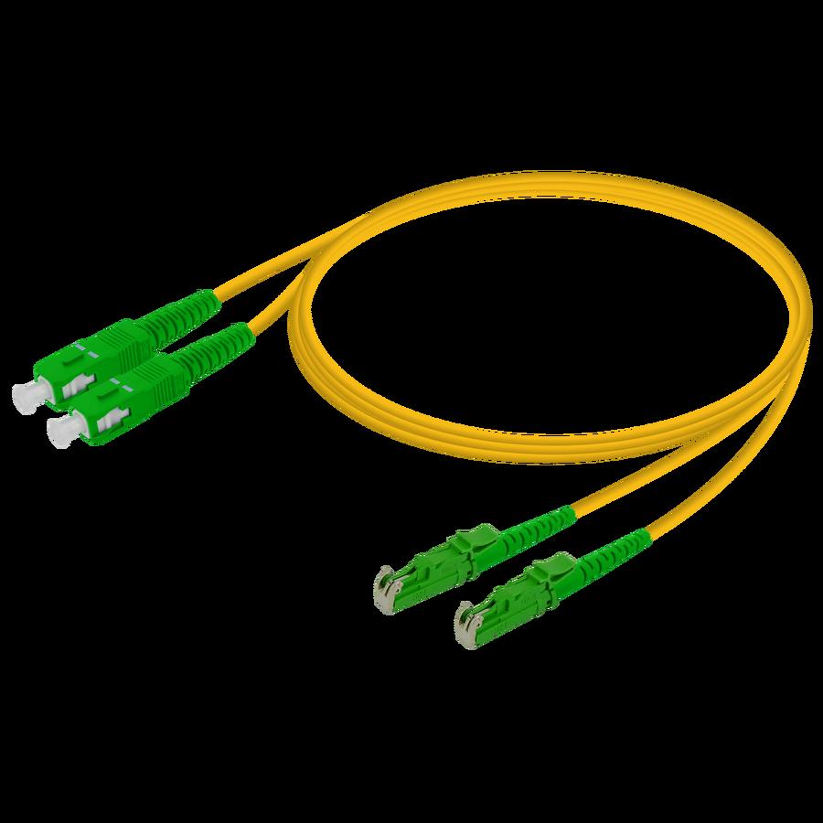 Samm Teknoloji - SC/APC-LSH/APC | Single Mode G657.A2 Duplex Patch Cord | 2.0x4.1mm