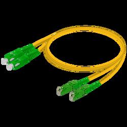 Samm Teknoloji - SC/APC-E2000/APC | Single Mode G657.A2 Duplex Patch Cord | 2.0x4.1mm