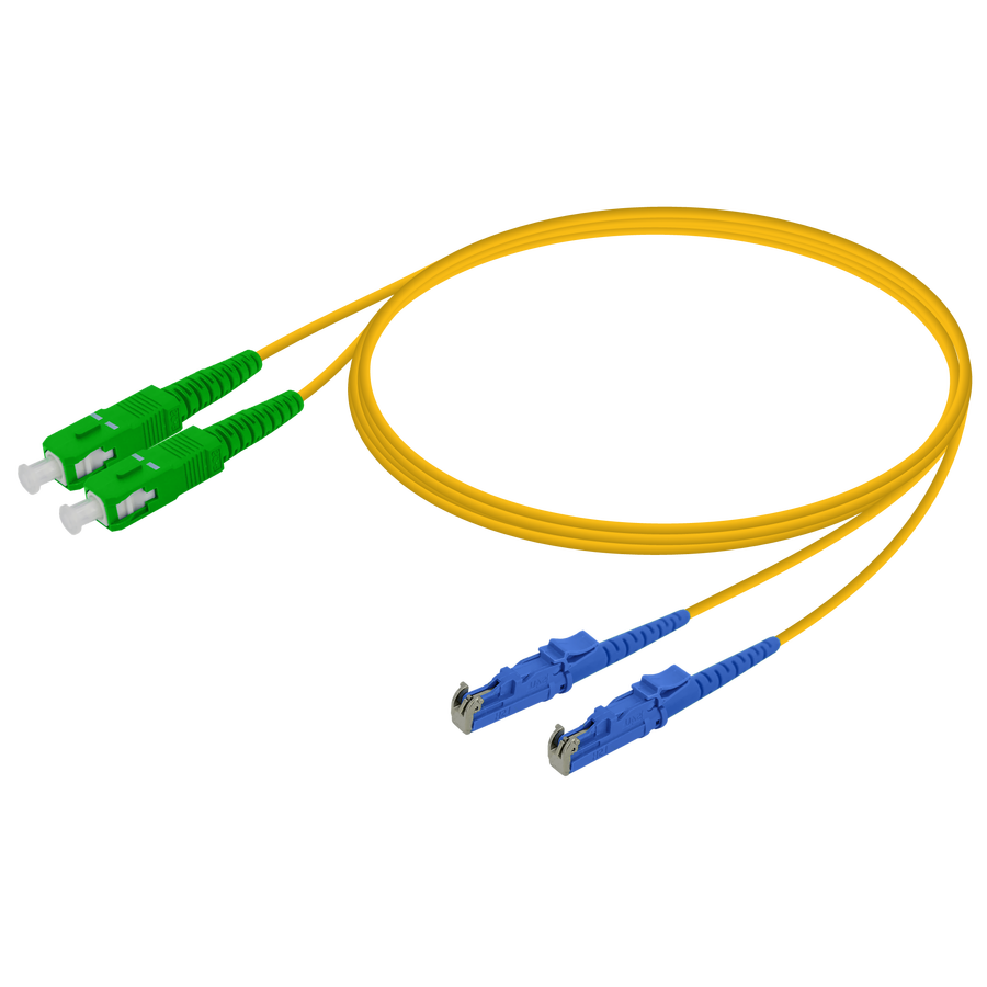 Samm Teknoloji - SC/APC-LSH/UPC | Single Mode G657.A2 Duplex Patch Cord | 2.0x4.1mm