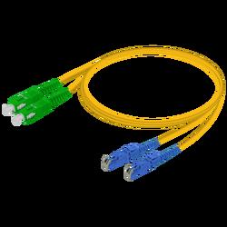 Samm Teknoloji - SC/APC-E2000/UPC | Single Mode G657.A2 Duplex Patch Cord | 2.0x4.1mm