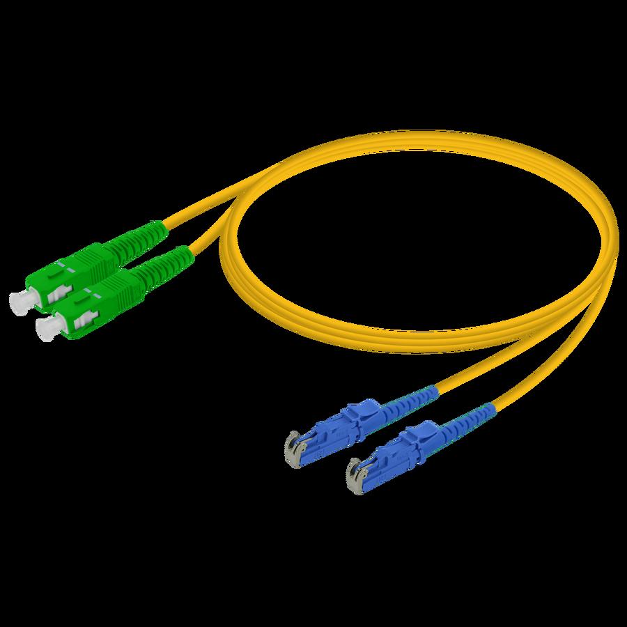 Samm Teknoloji - SC/APC-LSH/UPC | Single Mode G657.A2 Duplex Patch Cord | 2.0x4.1mm