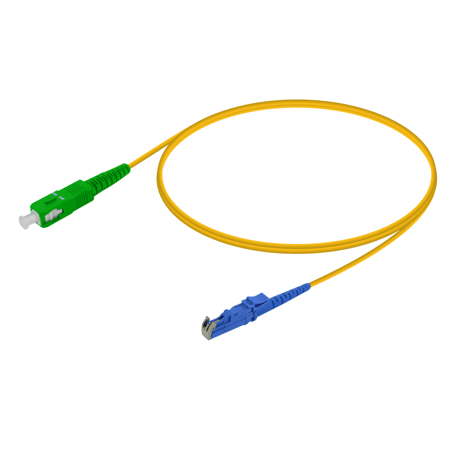 Samm Teknoloji - SC/APC-LSH/UPC | Single Mode G657.A2 Simplex Patch Cord | 2.0mm