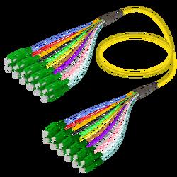 Samm Teknoloji - SC/APC-LC/APC | 12 Fiber Fanout | Single Mode G657.A2 | 3.0/0.9mm
