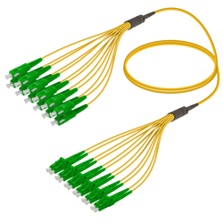 Samm Teknoloji - SC/APC-LC/APC | 12 Fiber Fanout | Single Mode G657.A2 | 3.0/1.8mm