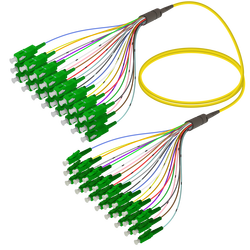 Samm Teknoloji - SC/APC-LC/APC | 24 Fiber Fanout | Single Mode G657.A2 | 3.0/0.9mm