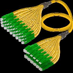 Samm Teknoloji - SC/APC-LC/APC | 24 Fiber Fanout | Single Mode G657.A2 | 3.0/1.8mm