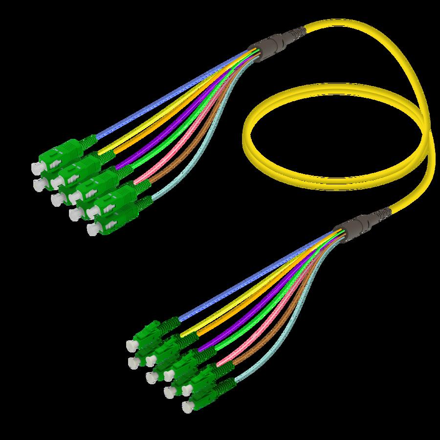 Samm Teknoloji - SC/APC-LC/APC | 8 Fiber Fanout | Single Mode G657.A2 | 3.0/0.9mm