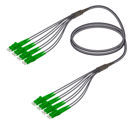 Samm Teknoloji - SC/APC-LC/APC | 8 Fiber Universal Fanout | Single Mode G657.A2 | 4.8/1.8mm