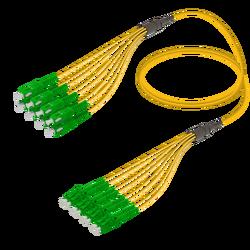 Samm Teknoloji - SC/APC-LC/APC | 8 Fibers Fanout | Single Mode G657.A2 | 3.0/1.8mm