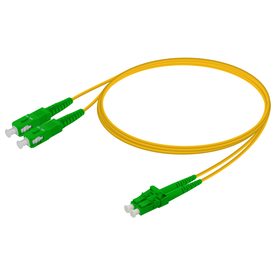 Samm Teknoloji - SC/APC-LC/APC | Single Mode G657.A2 Duplex Patch Cord | 2.0x4.1mm