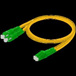 Samm Teknoloji - SC/APC-LC/APC | Single Mode G657.A2 Duplex Patch Cord | 2.0x4.1mm