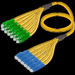 Samm Teknoloji - SC/APC-LC/UPC | 12 Fiber Fanout | Single Mode G657.A2 | 3.0/1.8mm