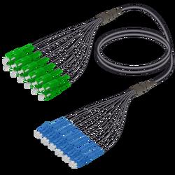 Samm Teknoloji - SC/APC-LC/UPC | 12 Fiber Universal Fanout | Single Mode G657.A2 | 4.8/1.8mm
