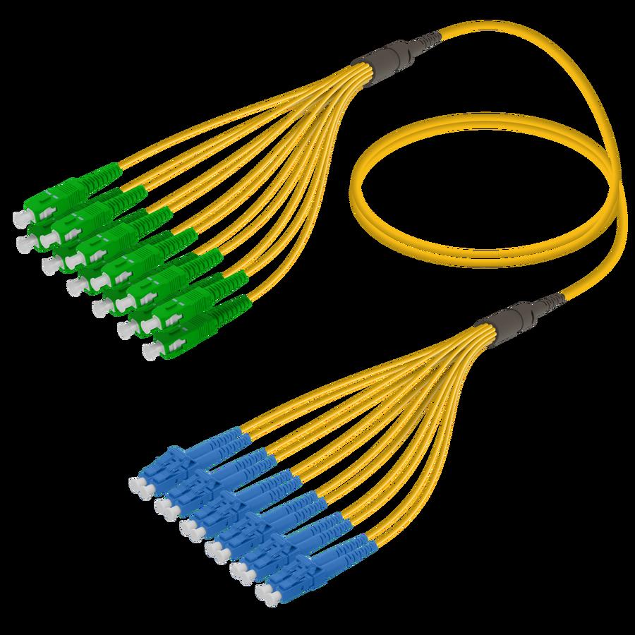 SC/APC-LC/UPC | 12 Fibers Fanout | Single Mode G657.A2 | 3.0/1.8mm