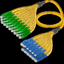 Samm Teknoloji - SC/APC-LC/UPC | 24 Fibers Fanout | Single Mode G657.A2 | 3.0/1.8mm