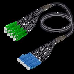 Samm Teknoloji - SC/APC-LC/UPC | 8 Fiber Universal Fanout | Single Mode G657.A2 | 4.8/1.8mm