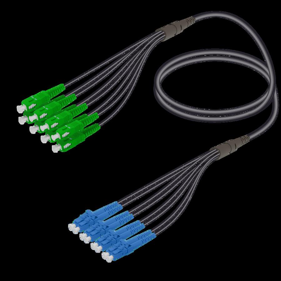 Samm Teknoloji - SC/APC-LC/UPC | 8 Fibers Universal Fanout | Single Mode G657.A2 | 4.8/1.8mm
