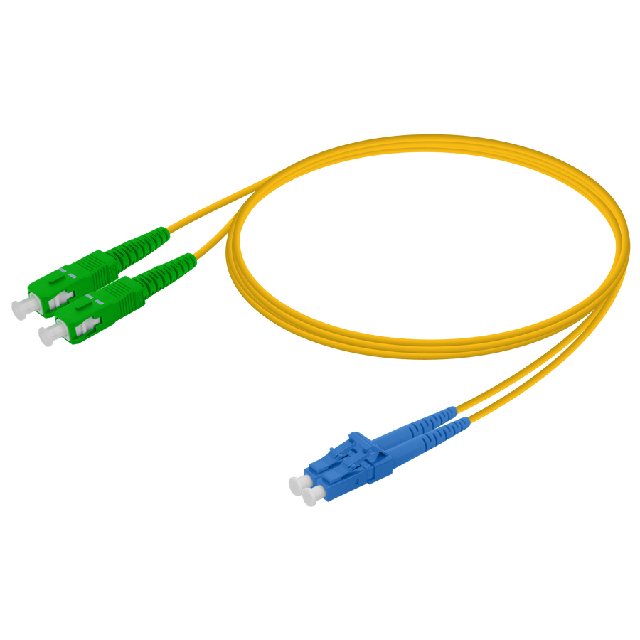 Samm Teknoloji - SC/APC-LC/UPC | Single Mode G657.A2 Duplex Patch Cord | 2.0x4.1mm