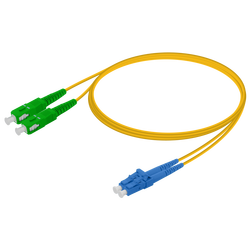 Samm Teknoloji - SC/APC-LC/UPC | Single Mode G657.A2 Duplex Patch Cord | 2.0x4.1mm