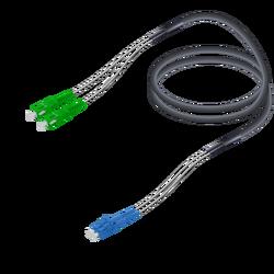 Samm Teknoloji - SC/APC-LC/UPC | Single Mode G657.A2 Çelik Korugeli Breakout | 7.0x2.85mm