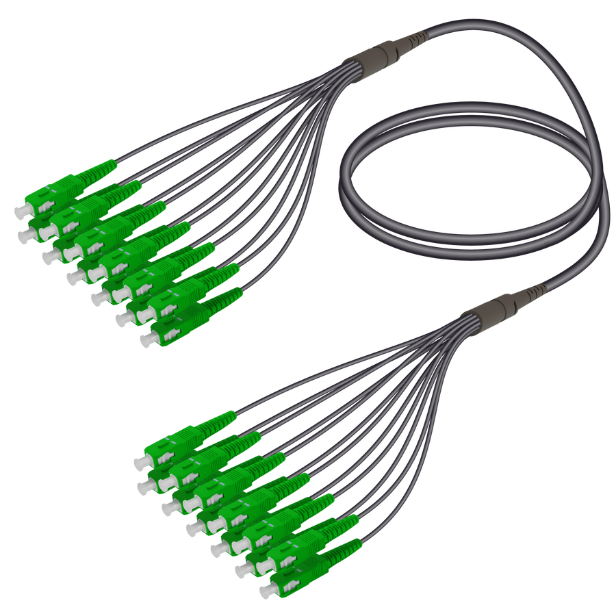 Samm Teknoloji - SC/APC-SC/APC | 12 Fiber Universal Fanout | Single Mode G657.A2 | 4.8/1.8mm