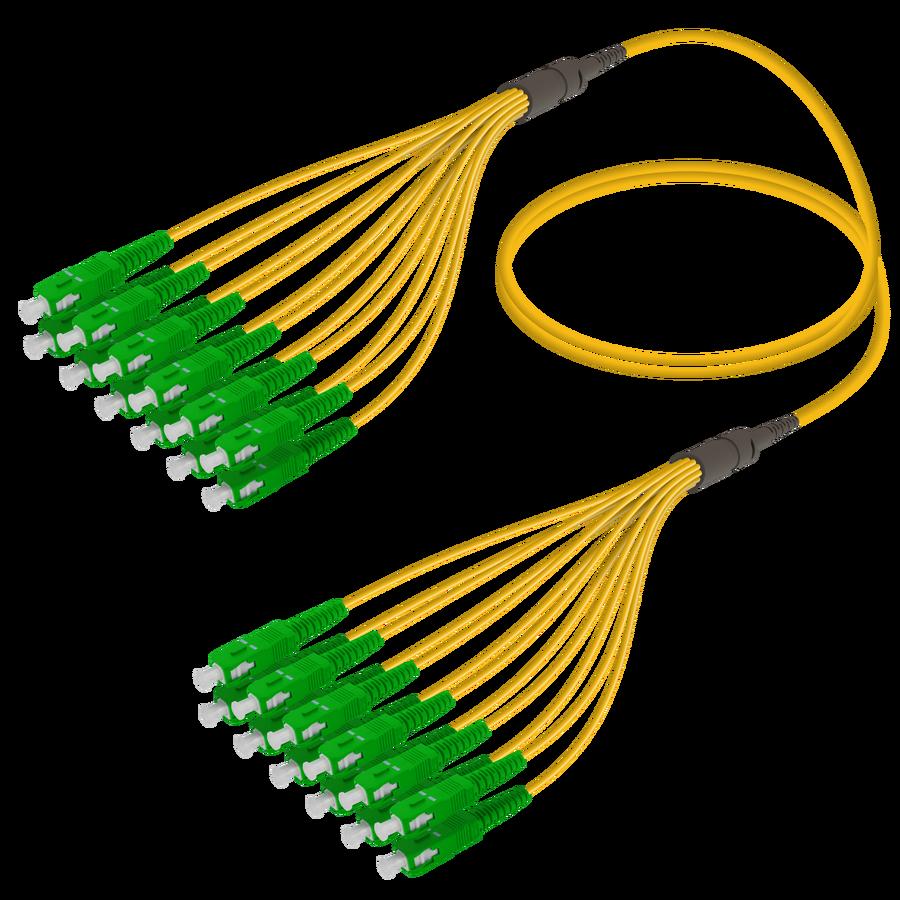 SC/APC-SC/APC | 12 Fibers Fanout | Single Mode G657.A2 | 3.0/1.8mm