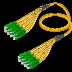 Samm Teknoloji - SC/APC-SC/APC | 8 Fibers Fanout | Single Mode G657.A2 | 3.0/1.8mm