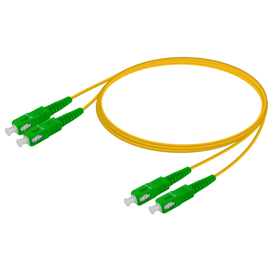 Samm Teknoloji - SC/APC-SC/APC | Single Mode G657.A2 Duplex Patch Cord | 2.0x4.1mm