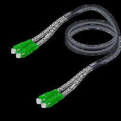 Samm Teknoloji - SC/APC-SC/APC | Single Mode G657.A2 Çelik Korugeli Breakout | 7.0x2.85mm