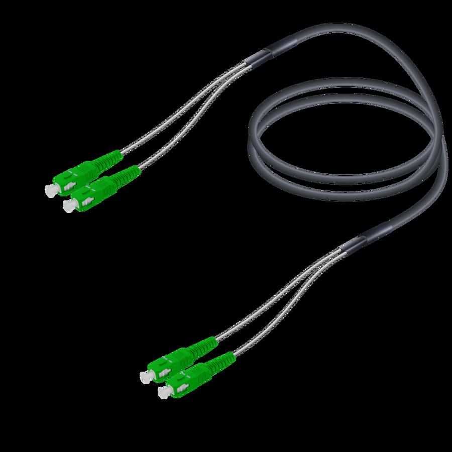 Samm Teknoloji - SC/APC-SC/APC   Single Mode G657.A2 Çelik Korugeli Breakout   4.8x2.85mm