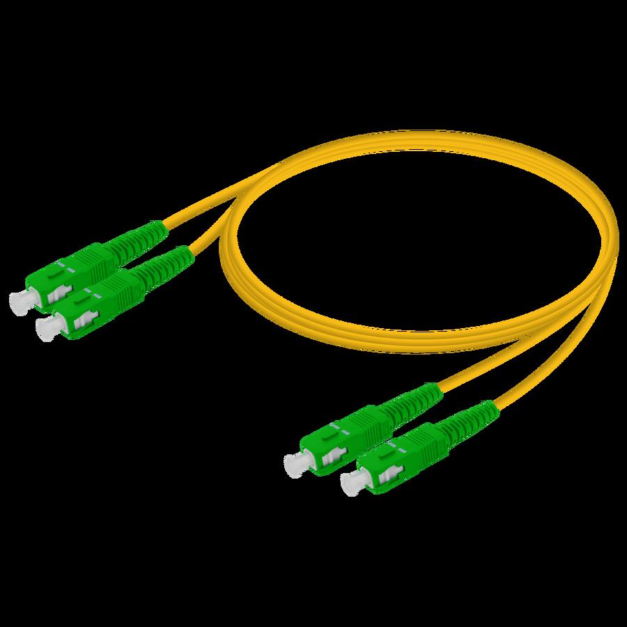 Samm Teknoloji - SC/APC-SC/APC | Single Mode G657.A2 Duplex Patch Cord | 2.0x4.1mm