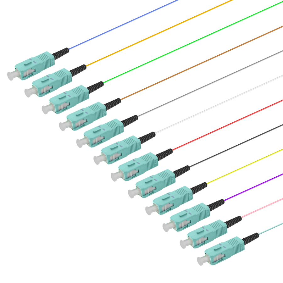 Samm Teknoloji - SC/UPC 12 Fiber Pigtail   Multi Mode G651.OM3   0.9mm (1)