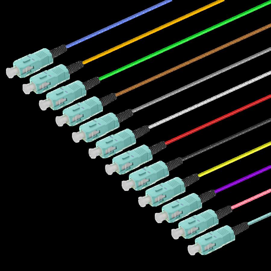 Samm Teknoloji - SC/UPC 12 Fiber Pigtail | Multi Mode G651.OM3 | 0.9mm (1)