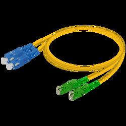 Samm Teknoloji - SC/UPC-E2000/APC | Single Mode G657.A2 Duplex Patch Cord | 2.0x4.1mm