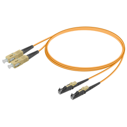 Samm Teknoloji - SC/UPC-LSH/UPC | Multi Mode G651.OM1 Duplex Patch Cord | 2.0x4.1mm