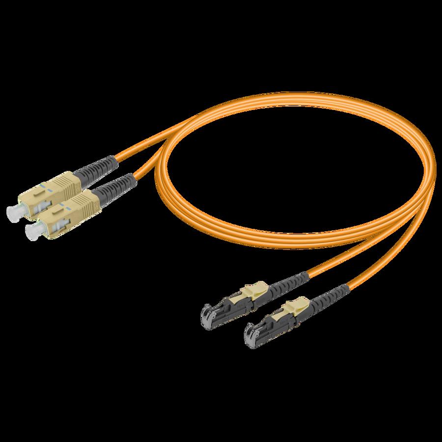 SC/UPC-LSH/UPC | Multi Mode G651.OM2 Duplex Patch Cord | 2.0x4.1mm
