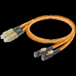 Samm Teknoloji - SC/UPC-LSH/UPC | Multi Mode G651.OM2 Duplex Patch Cord | 2.0x4.1mm