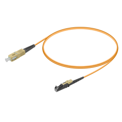 Samm Teknoloji - SC/UPC-E2000/UPC | Multi Mode G651.OM1 Simplex Patch Cord | 2.0mm