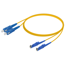 Samm Teknoloji - SC/UPC-E2000/UPC | Single Mode G657.A2 Duplex Patch Cord | 2.0x4.1mm