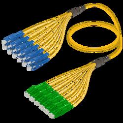 Samm Teknoloji - SC/UPC-LC/APC | 12 Fiber Fanout | Single Mode G657.A2 | 3.0/1.8mm