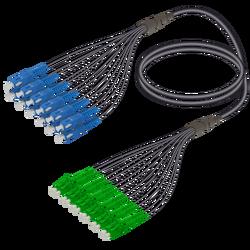 Samm Teknoloji - SC/UPC-LC/APC | 12 Fiber Universal Fanout | Single Mode G657.A2 | 4.8/1.8mm