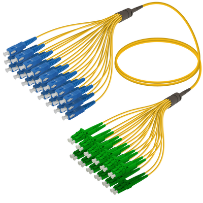 Samm Teknoloji - SC/UPC-LC/APC | 24 Fiber Fanout | Single Mode G657.A2 | 3.0/1.8mm
