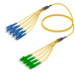 Samm Teknoloji - SC/UPC-LC/APC | 8 Fiber Fanout | Single Mode G657.A2 | 3.0/1.8mm