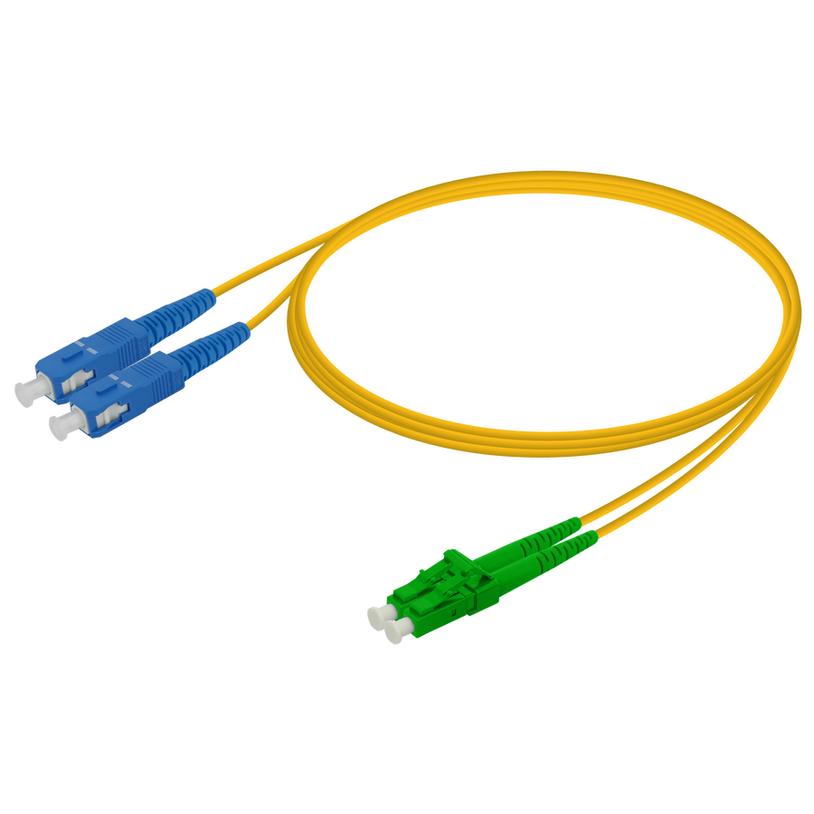Samm Teknoloji - SC/UPC-LC/APC | Single Mode G657.A2 Duplex Patch Cord | 2.0x4.1mm