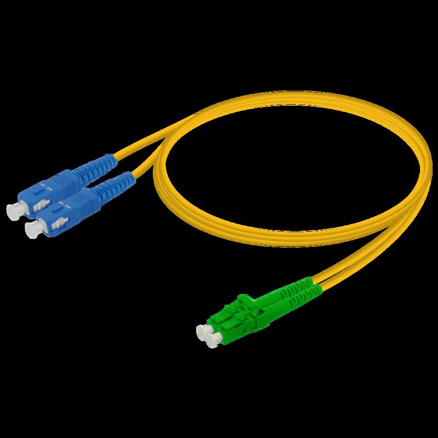 Samm Teknoloji - SC/UPC-LC/APC | Single Mode G657.A2 Duplex Patch Cord | 2.0x4.1mm