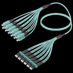 Samm Teknoloji - SC/UPC-LC/UPC | 12 Fiber Fanout | Multi Mode G651.OM3 | 3.0/1.8mm