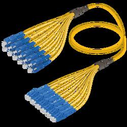 Samm Teknoloji - SC/UPC-LC/UPC | 12 Fiber Fanout | Single Mode G657.A2 | 3.0/1.8mm